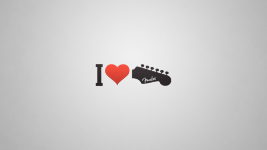 General 1920x1080 love Fender guitar minimalism