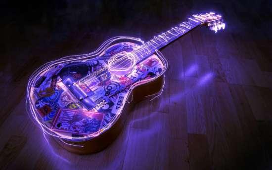 General 2560x1600 guitar neon