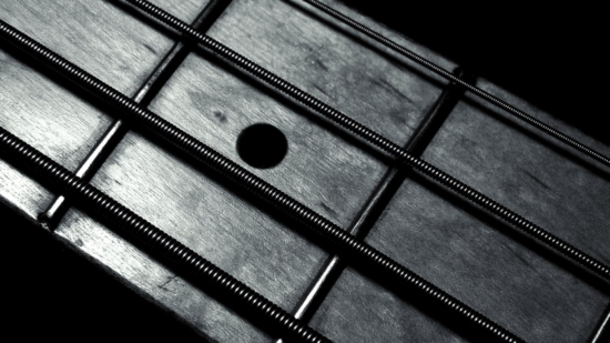 General 1920x1080 monochrome black background minimalism guitar bass guitars closeup macro strings metal