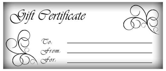 Free Simple Gift Certificate Templates Ginva - Numbered gift certificate template