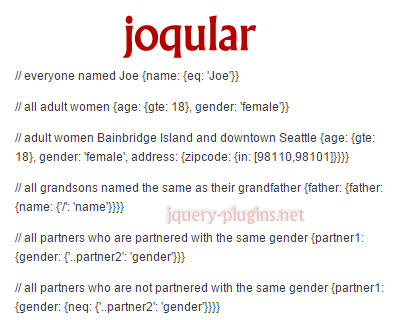 joqular_javascript_object_query_language_representation