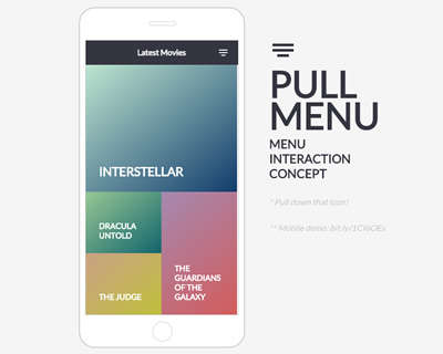 pull_menu_menu_interaction_concept