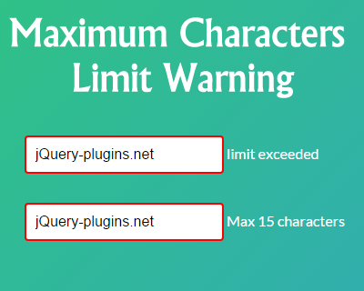 maximum_characters_limit_exceeded_warning_jquery_plugin