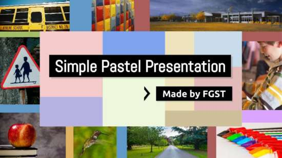 simple pastel theme presentation template
