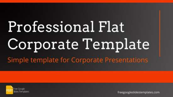 professional flat corporate presentation template
