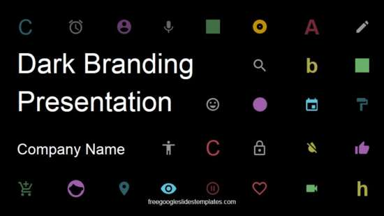 dark branding presentation template