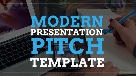 modern presentation pitch template