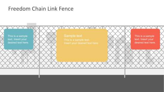 freedom chain link fence slides