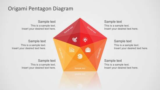 origami pentagon diagram