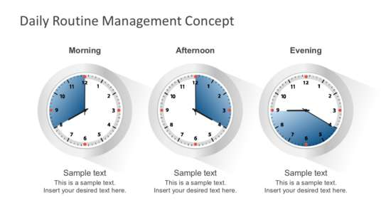 daily routine management concept