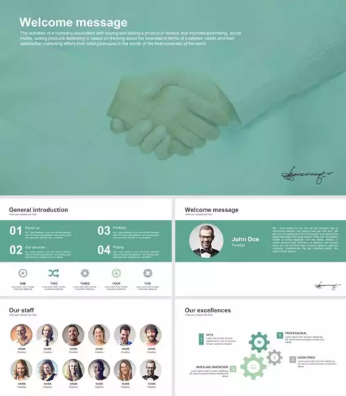 Deluxe Start Up Business Google Slides Template