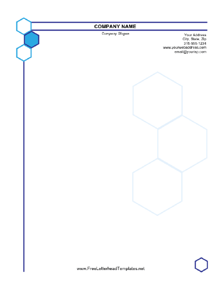 hexagonal_business_letterhead