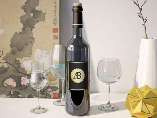 wine_bottle_on_table_mockup