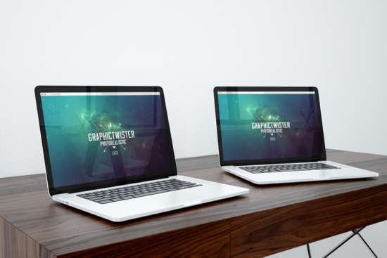 two_macbook_pros_on_desk_mockup