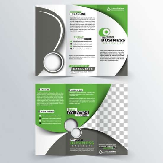 green_trifold_corporate_brochure