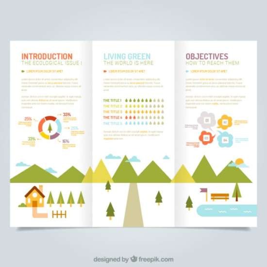 cute ecological leaflet template cute_ecological_leaflet_template_screenshot