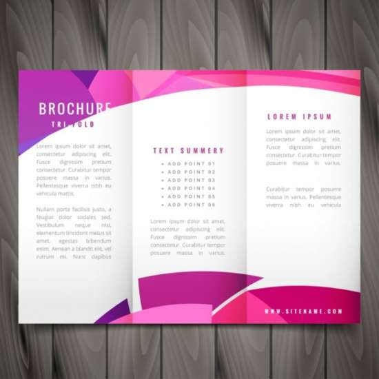 wavy_trifold_template_in_pink_color