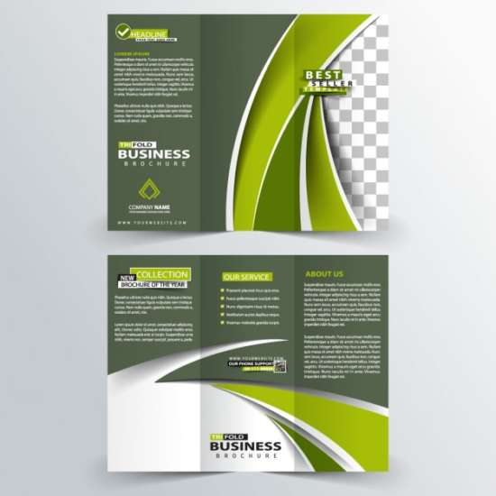 abstract_business_trifold_in_green_color_screenshot