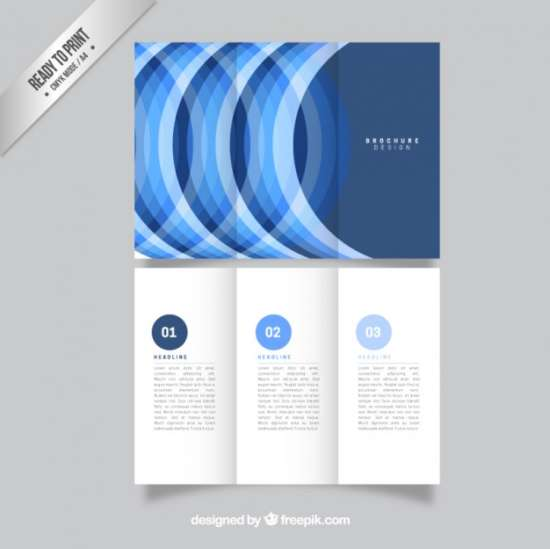 blue_semicircular_tri_fold_template_screenshot