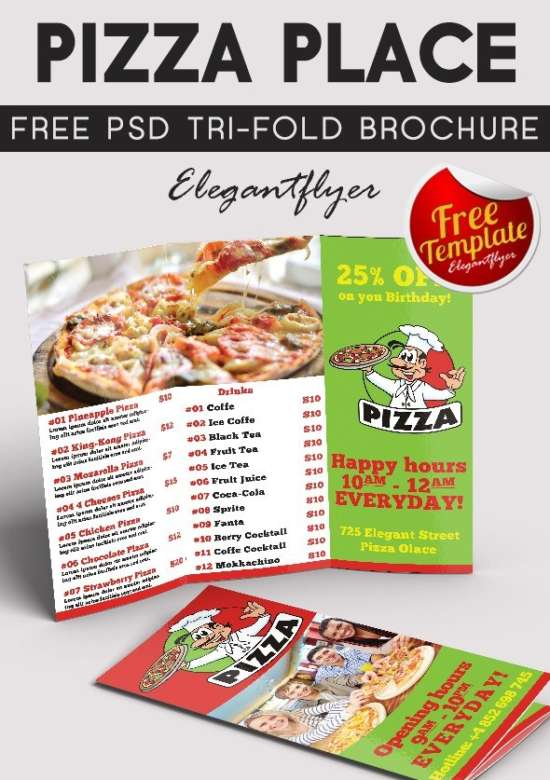 Free Attractive Tri Fold Brochure Templates Ginva - Food brochure templates