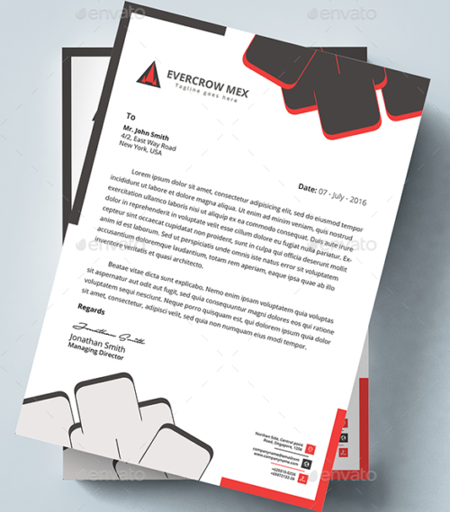 MS Word Letterhead Template  Free Word Letterhead Template