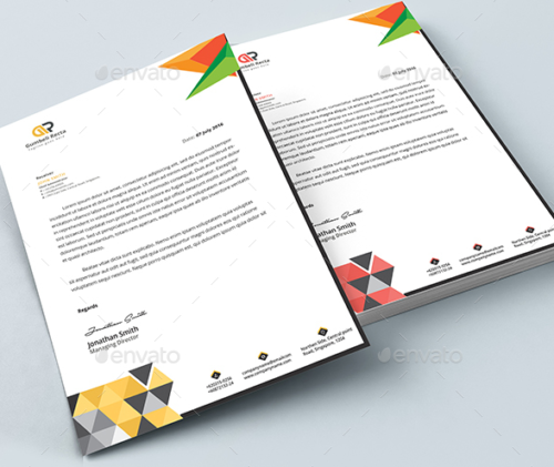 Word Letterhead Template by Designcircle