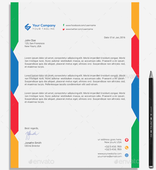 Letterhead Template Bundle