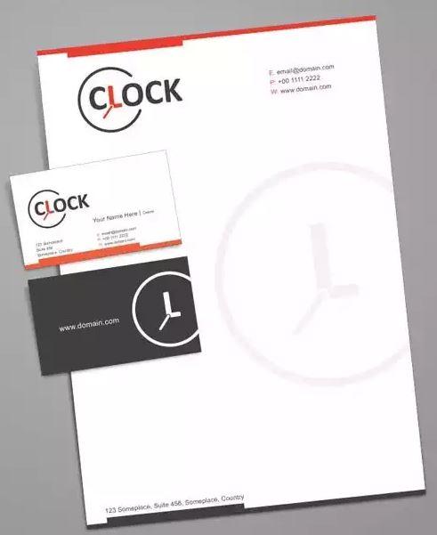 Clock Letterhead