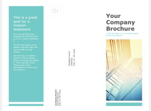 Blue PowerPoint Brochure