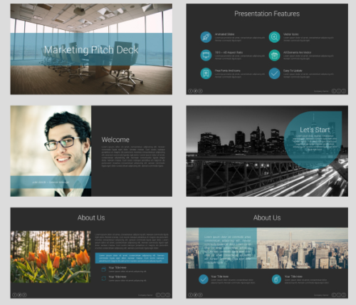 Marketing Pitch Deck Keynote Presentation Template