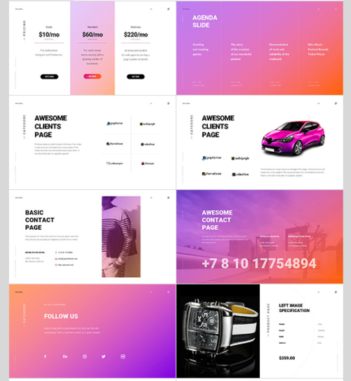 Download 40 free colorful powerpoint templates ginva bronx powerpoint template maxwellsz