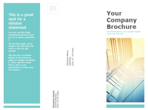 Professionally-designed tri-fold brochure template
