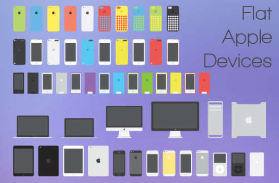 apple_flat_devices_pack_psd
