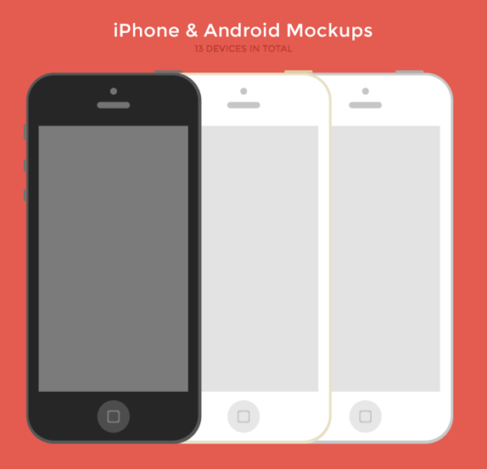 iphone_&_android_flat_mockups_psd