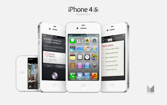 white_iphone_4s_psd
