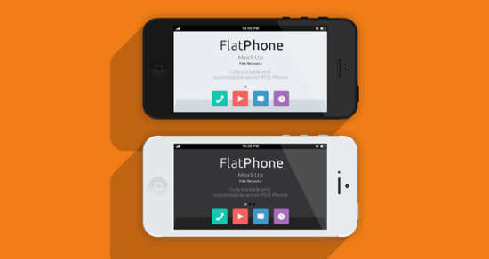 flat_design_iphone5_psd