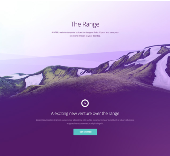 the_range_single_page_website_template_psd