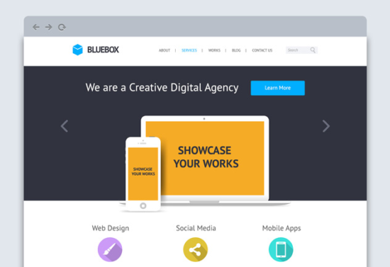 bluebox_flat_psd_website_template
