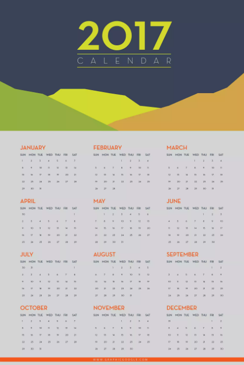 15 free printable 2017 wall calendar templates