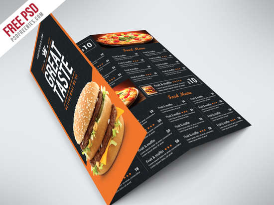 fast_food_menu_trifold_brochure_free_psd
