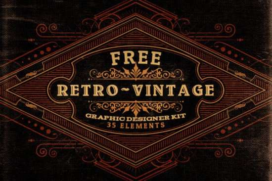free_retrovintage_graphic_designer_kit_screenshot