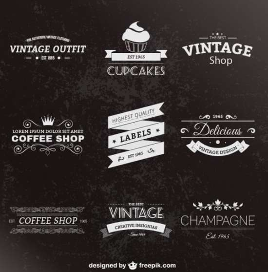 retro_style_labels_pack_free_vector_screenshot
