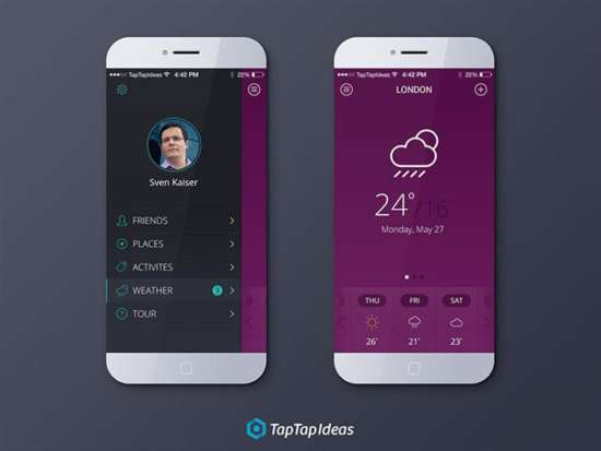 free_weather_app_psd_screenshot