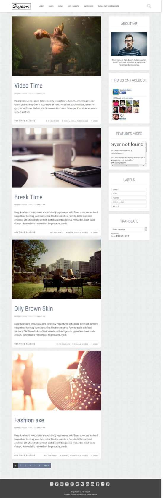 sycon_personal_blog_blogger_template_screenshot