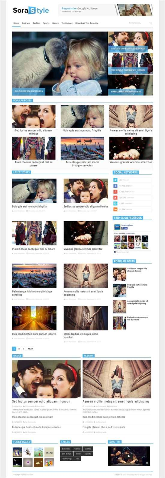 sora_blog_responsive_blogger_template_screenshot