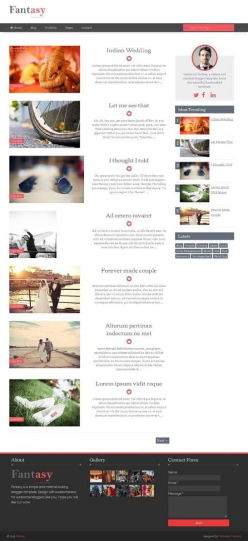 Fantasy responsive blogger template