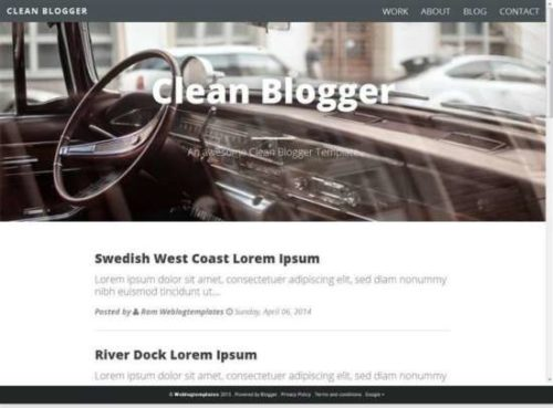 Clean blogger template for personal blogs