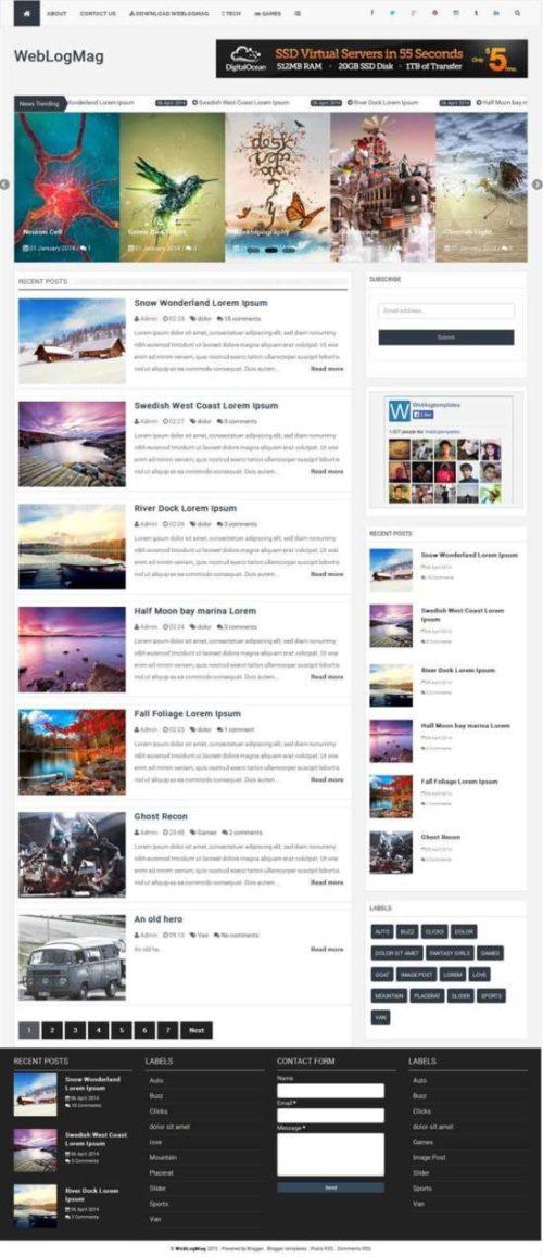 Weblogmag responsive blogger template
