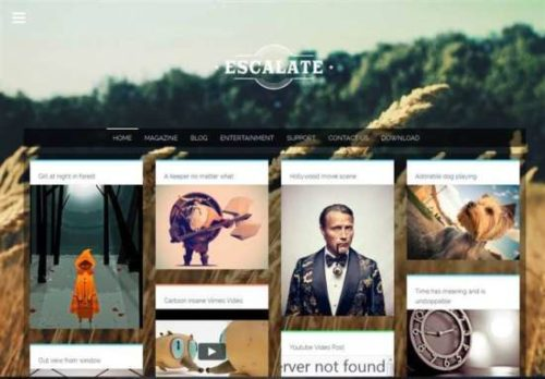 Escalate is a clean and personal responsive blogger template