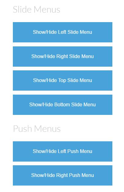 Slide and Push Menus